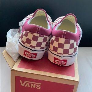 8663cd02f06df4 Vans Shoes - BNWT Dry Rose Checkerboard Vans!